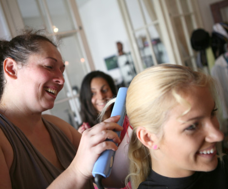 backstage work hairstyling